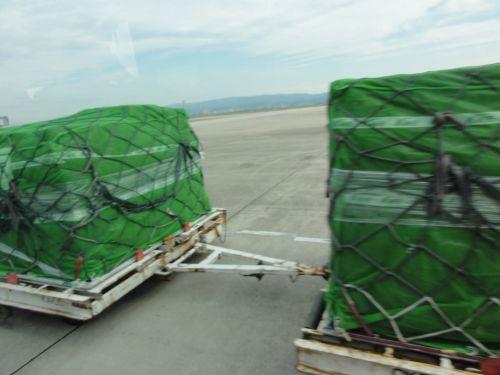荷物とスレ違い