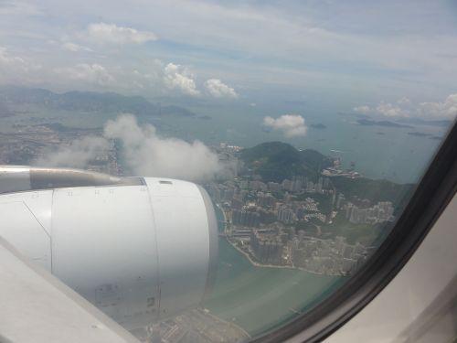 香港着陸前