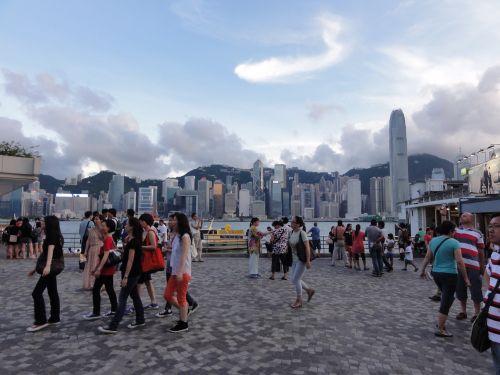 香港島を振り返る