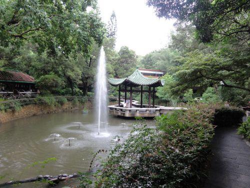 中国庭園風