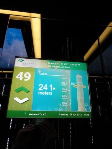 エレベーターの表示