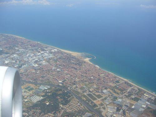 バルセロナ上空
