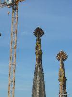 尖塔の装飾。